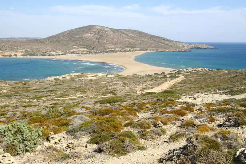 Cap de Prassonisi en île de Rhodes image stock