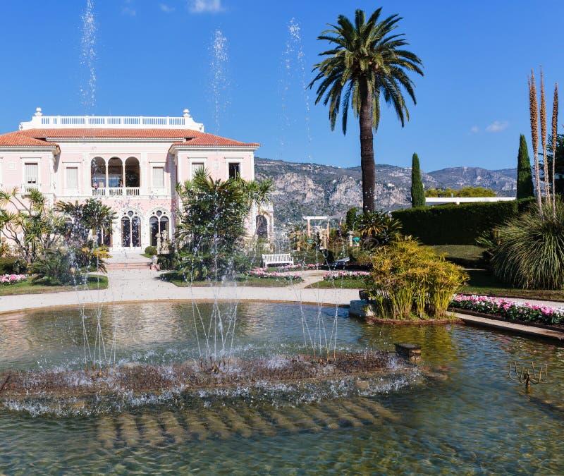 Villa Ephrussi de Rothschild. CAP FERRAT, FRANCE - OCTOBER 29, 2014: Villa Ephrussi de Rothschild royalty free stock image