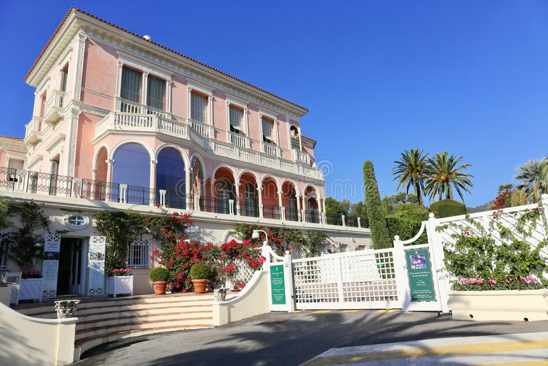 Villa Ephrussi de Rothschild in France. CAP FERRAT, FRANCE - OCTOBER 29, 2014: Villa Ephrussi de Rothschild royalty free stock images