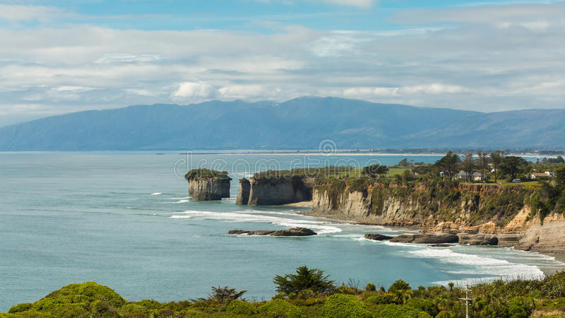 Cap Foulwind, île du sud, Nouvelle-Zélande photographie stock libre de droits