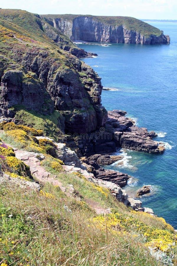 Cap Frehel, France. Landscape of the coast of Brittany , Cap Frehel, France royalty free stock photography