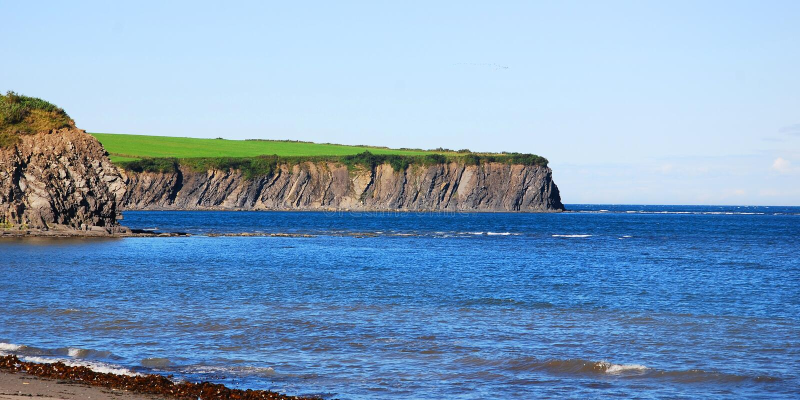 Cap Gaspe Quebec Canada. Cap Gaspe Quebeanada is a headland located at the eastern extremity of the Gaspé Peninsula in the Canadian province of Quebec.It is royalty free stock images
