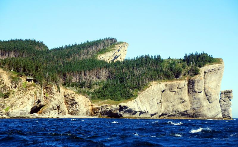 Cap Gaspe Quebec Canada. Cap Gaspe Quebeanada is a headland located at the eastern extremity of the Gaspé Peninsula in the Canadian province of Quebec.It is stock image