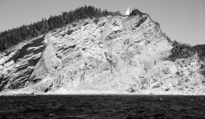 Cap Gaspe Quebec Canada. Cap Gaspe Quebeanada is a headland located at the eastern extremity of the Gaspé Peninsula in the Canadian province of Quebec.It is royalty free stock photos