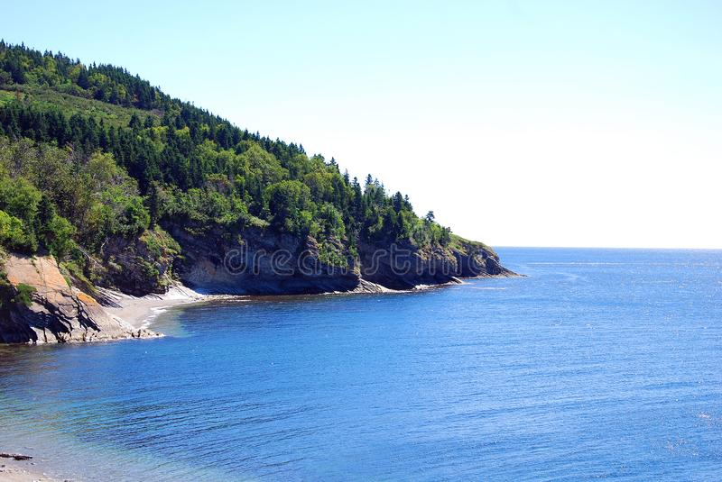 Cap Gaspe Quebec Canada. Cap Gaspe Quebeanada is a headland located at the eastern extremity of the Gaspé Peninsula in the Canadian province of Quebec.It is stock photos