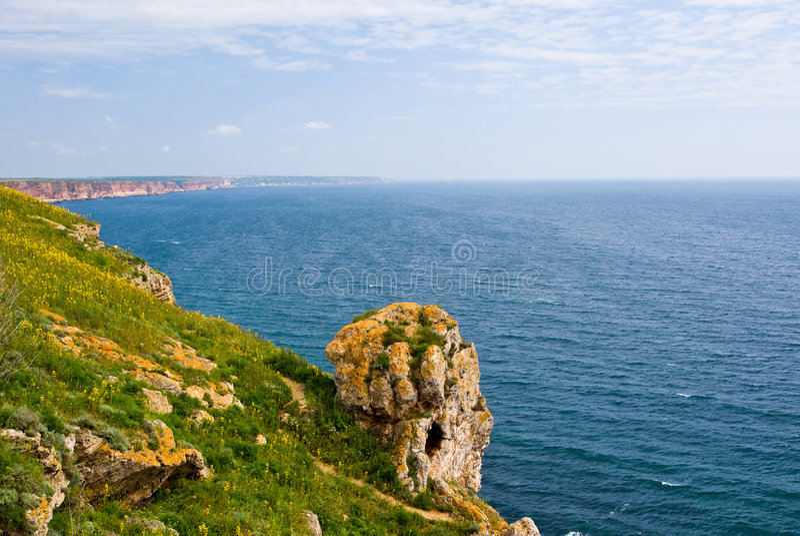 Cap Kaliakra, Bulgarie image libre de droits