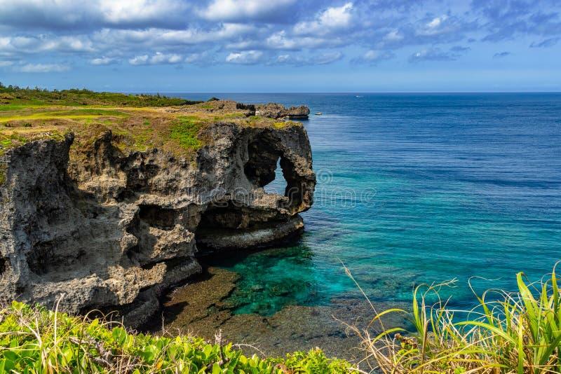 Cap Manzamo en Okinawa Island images libres de droits