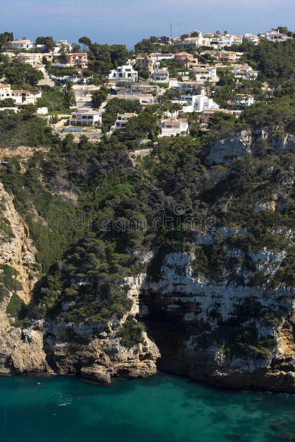 Cap Negre Cliffs, Javea, Alicante province,Costa Blanca, spain stock image