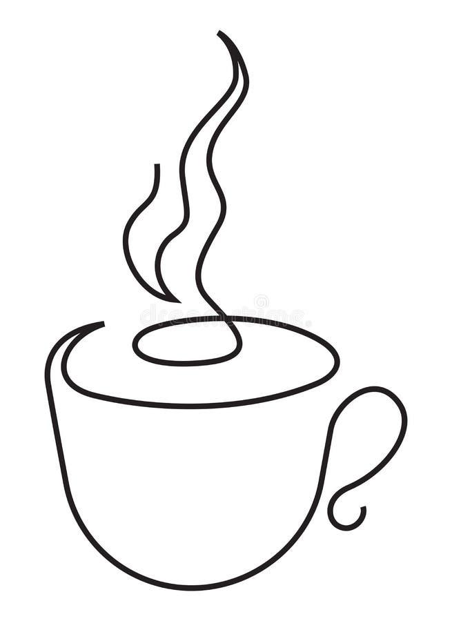 Free Cap Of Tea Or Coffee One Line Stock Photos - 122829543