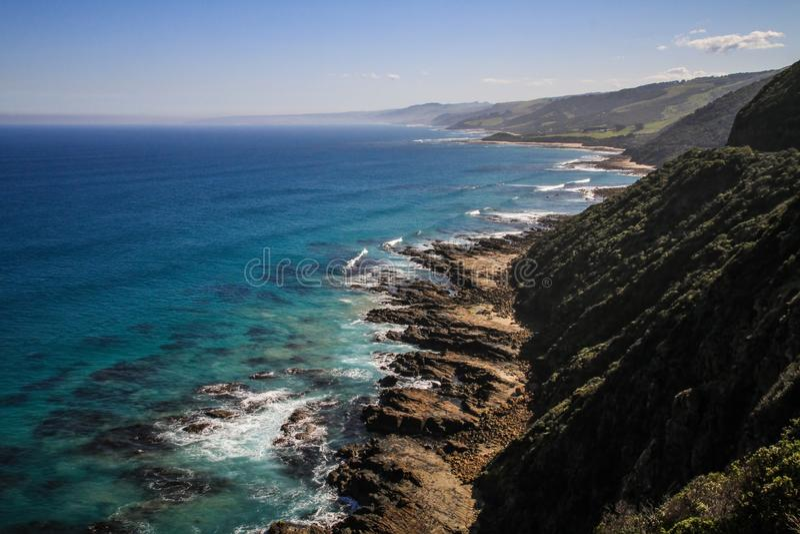Cap Patton Lookout Point, grande route d'océan, Victoria, Australie image stock
