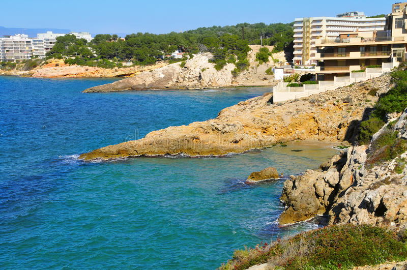 Cap Salou, in Salou, Spain stock photos