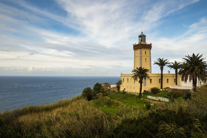 Cap Spartel, à l'ouest de Tanger, le Maroc image stock