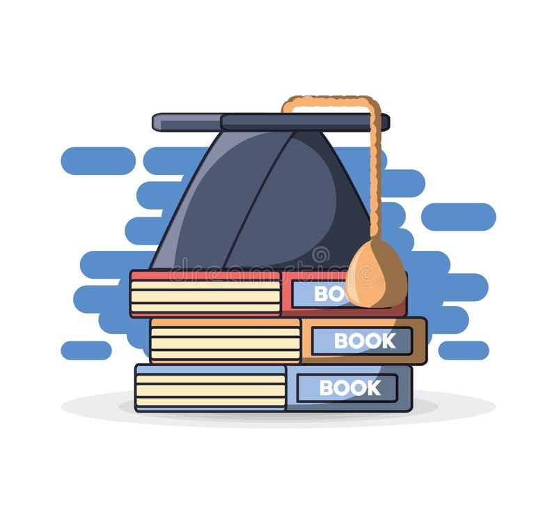 cap stack klasyfikacji książek ilustracja wektor