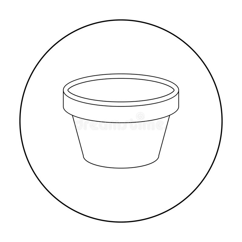 Cap for tattoo ink icon outline. Single tattoo icon from the big studio outline. Stock stock illustration