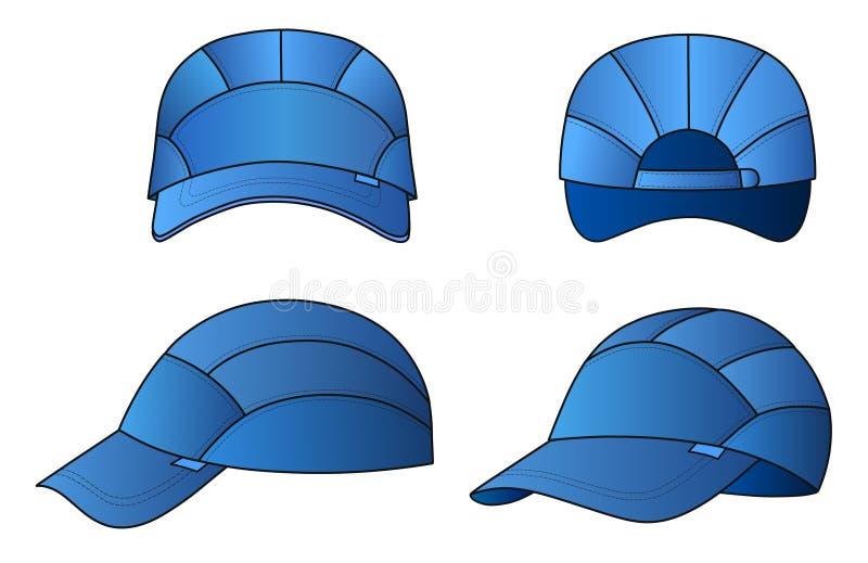 Download Cap template stock vector. Illustration of baseball, panels - 18203054