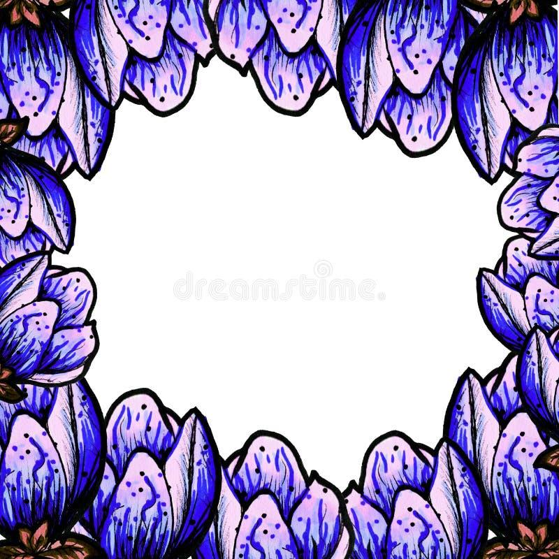 Cap?tulo de la magnolia floreciente en un fondo blanco aislado Lugar para el texto Decoraci?n por un d?a de fiesta Florezca el ma ilustración del vector