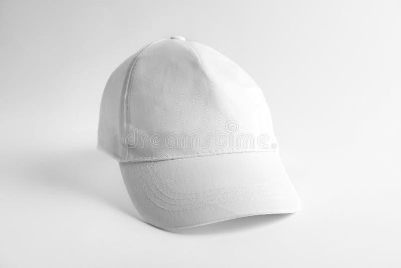 Cap on white background. Mockup for design stock photo