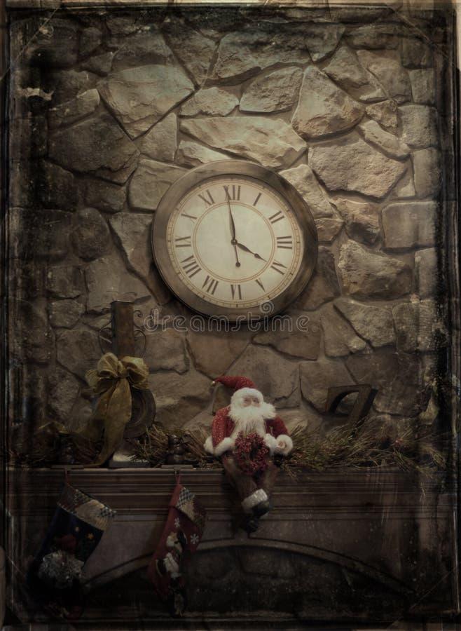 Capa antigua de la Navidad foto de archivo libre de regalías