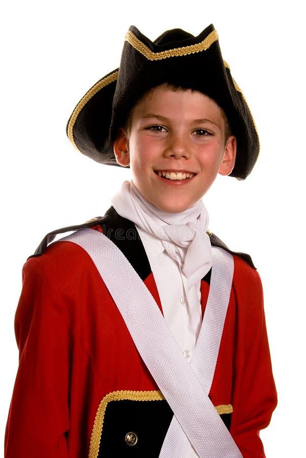 Capa británica del rojo del ejército fotografía de archivo