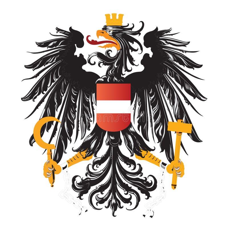 Capa de Austria de los brazos aislados