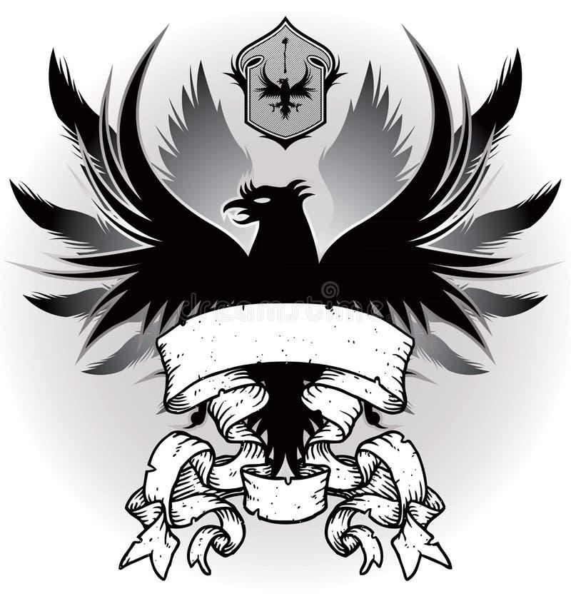 Capa De Brazos Con El águila Imagen de archivo