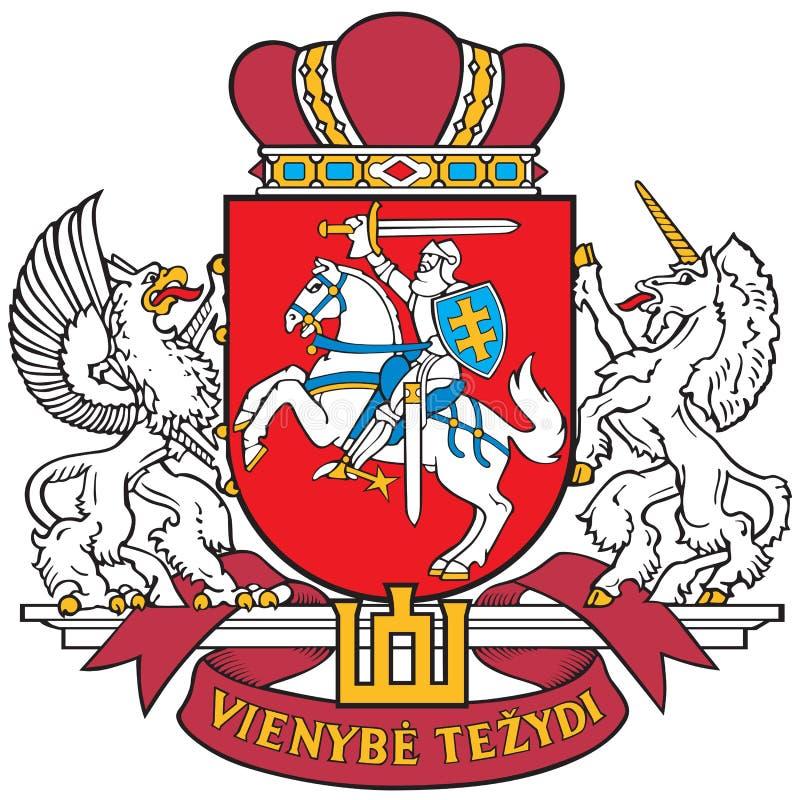 Capa de brazos de Lituania stock de ilustración