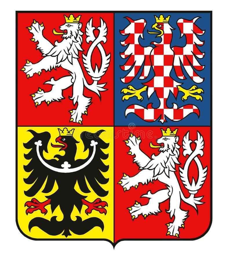 Capa de brazos del VECTOR de la República Checa libre illustration