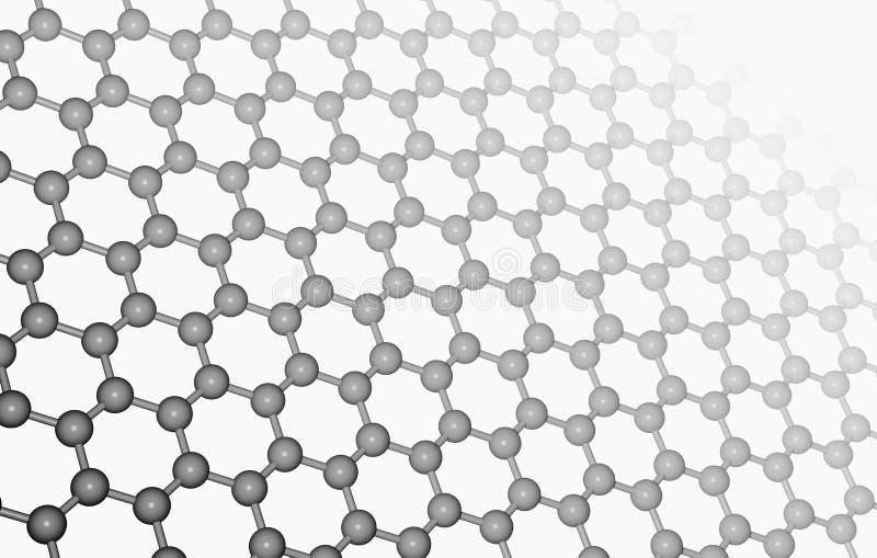 Capa de Graphene imagenes de archivo