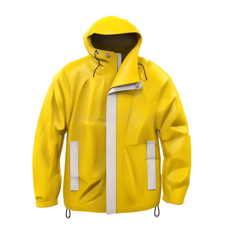 Capa de lluvia amarilla libre illustration