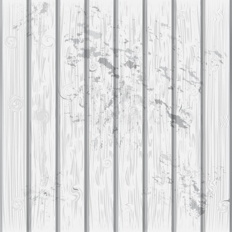 Capa de madera resistida de la textura del vector del tablón stock de ilustración