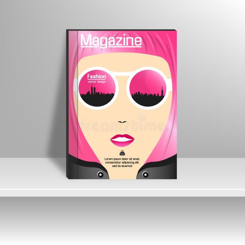 Capa de revista com a forma ilustração royalty free
