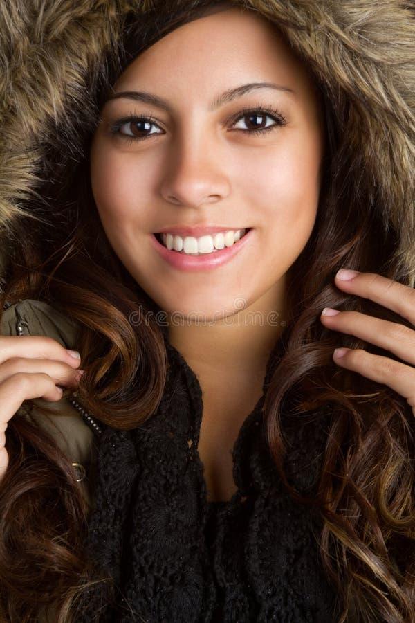 Capa del invierno adolescente foto de archivo libre de regalías