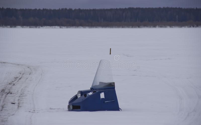 capa do carro de neve fotos de stock royalty free