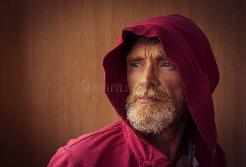 Capa do homem fotografia de stock royalty free