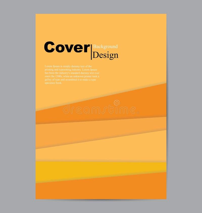 Capa do livro com a parte de papéis coloridos ilustração royalty free