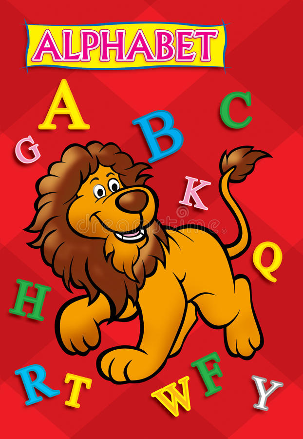 Capa do livro do alfabeto foto de stock