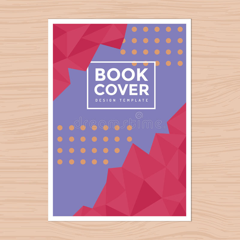 Capa do livro do projeto moderno, cartaz, inseto, perfil da empresa, molde da disposição de projeto do informe anual no tamanho A ilustração do vetor