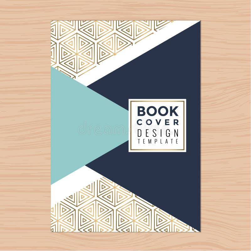 Capa do livro limpa moderna, brochura, cartaz, inseto, folheto, perfil da empresa, molde da disposição de projeto do informe anua ilustração stock
