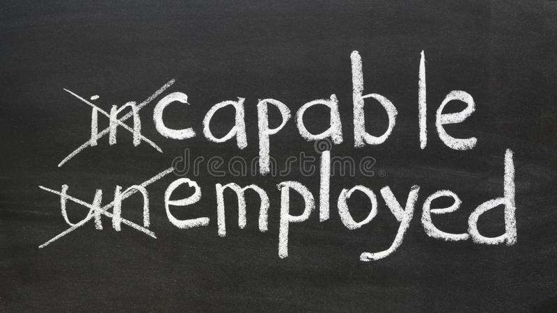 Capable, employed stock photos