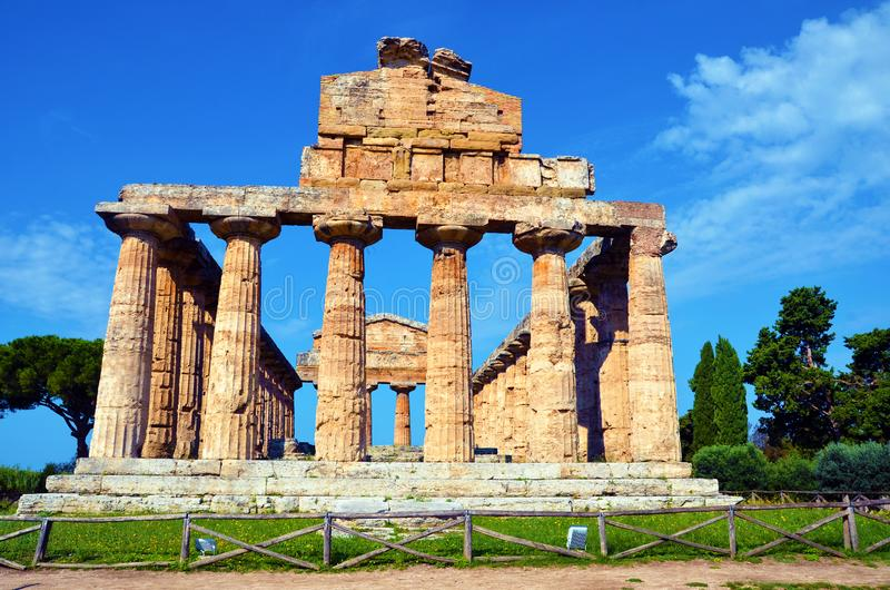 Capaccio paestum Italien arkivbilder