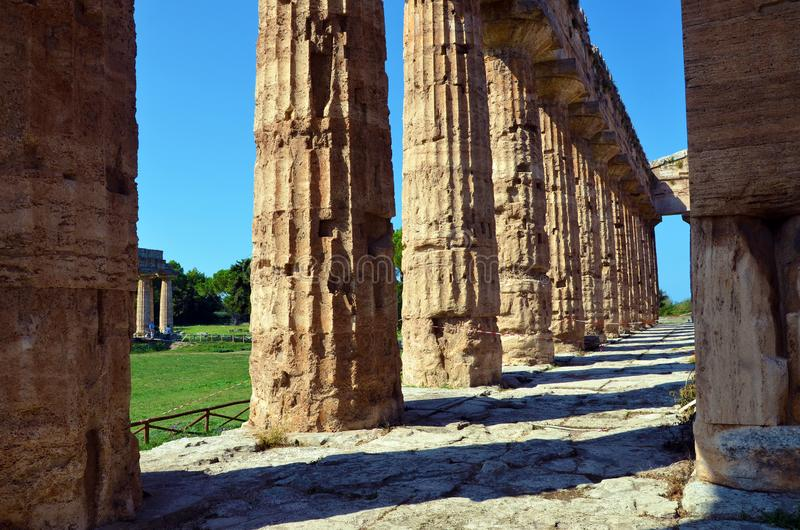Capaccio paestum Italien royaltyfria foton