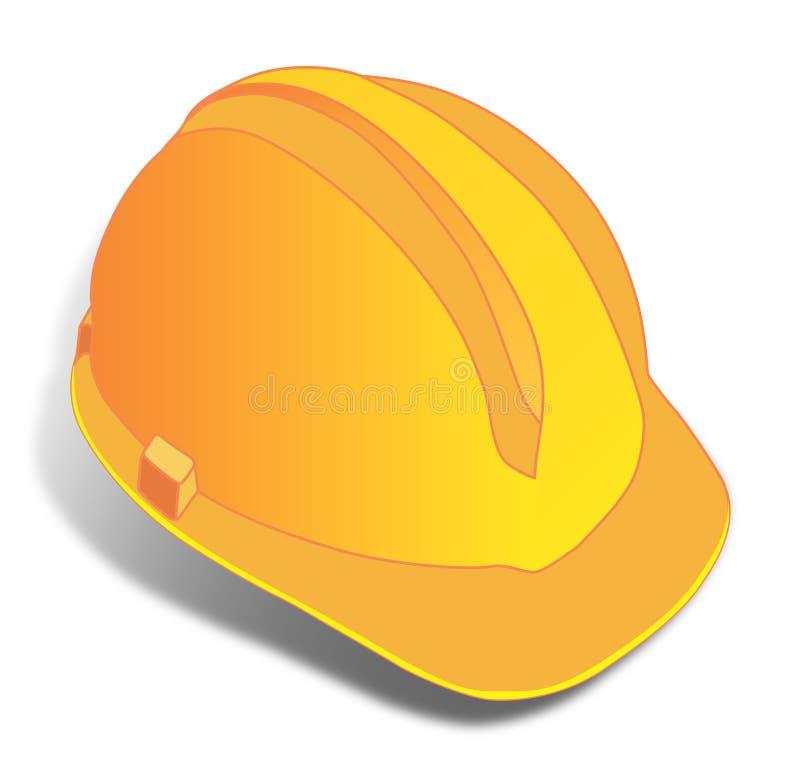 Amarele o capacete ilustração do vetor