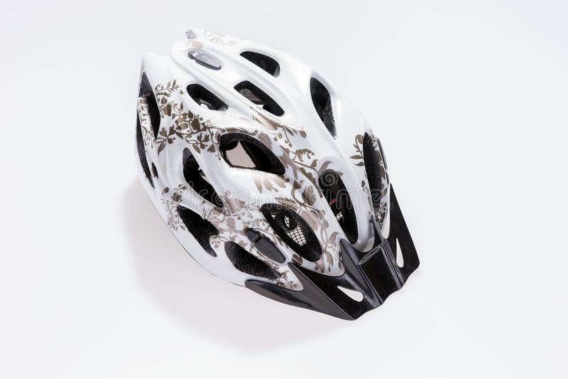 Capacete Bicycling fotografia de stock royalty free