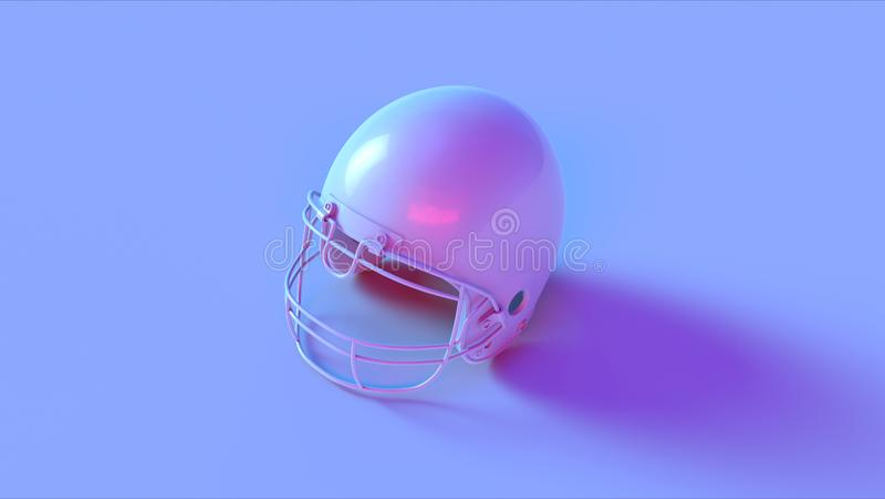Capacete cor-de-rosa azul imagem de stock royalty free