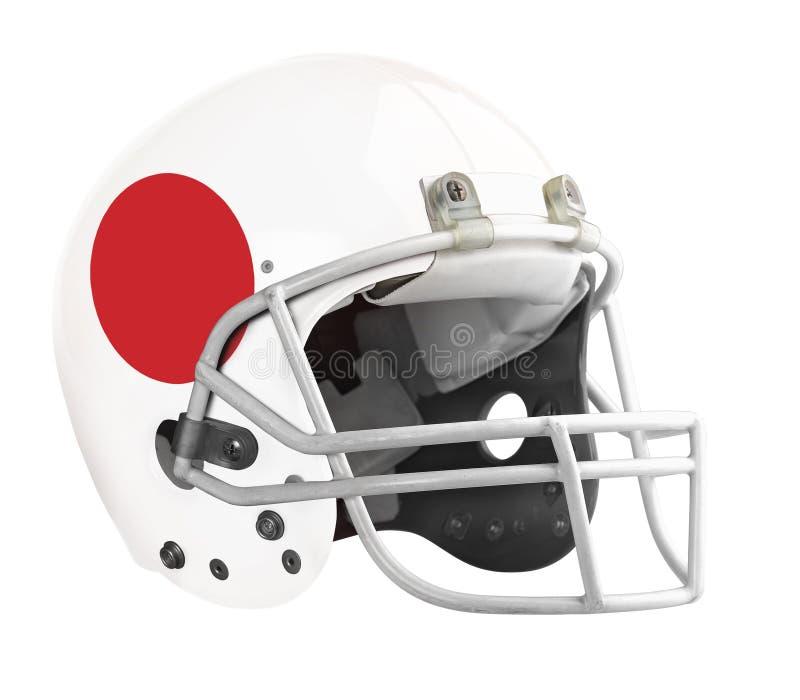 Capacete de futebol americano embandeirado de Japão imagens de stock