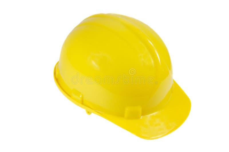 Capacete de segurança amarelo imagem de stock royalty free