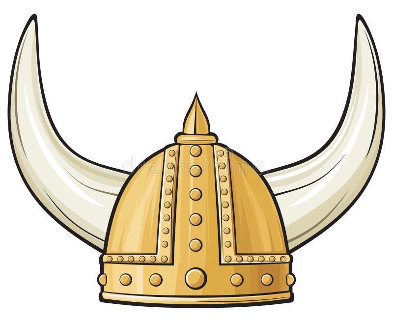 Capacete de Viquingue ilustração do vetor
