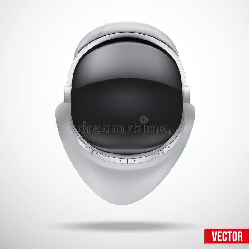Capacete do astronauta com vetor do vidro da reflexão. ilustração do vetor