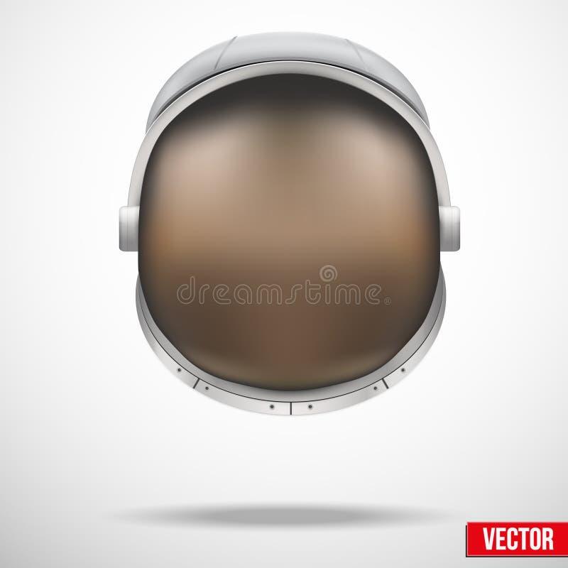 Capacete do astronauta com vetor do vidro da reflexão. ilustração royalty free
