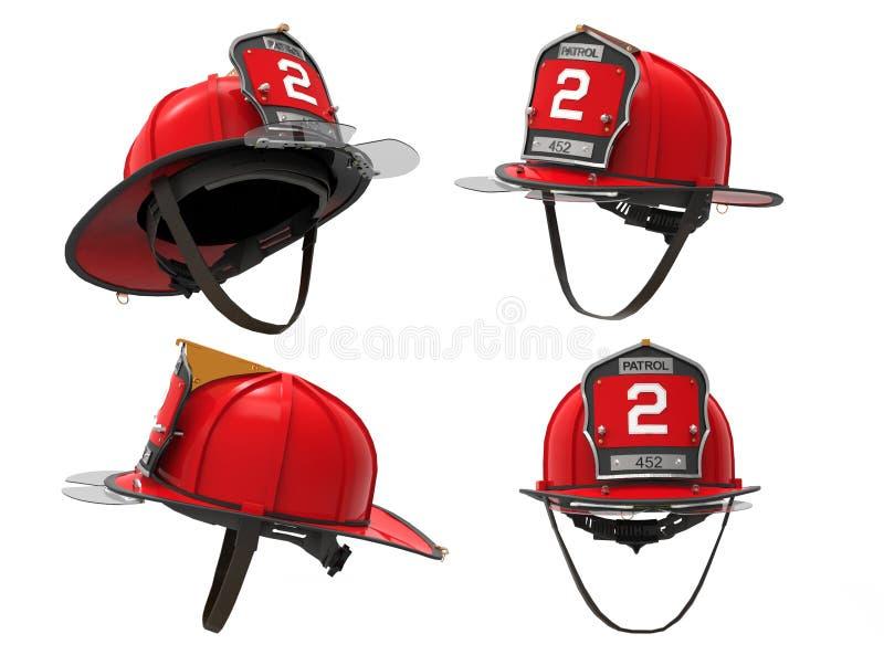 Capacete do bombeiro do departamento dos bombeiros de New York ilustração royalty free